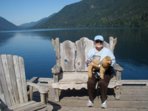 Dorothy and Bella at Lake Crescent